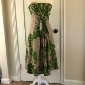 Tracy Reese amazing green floral silk dress